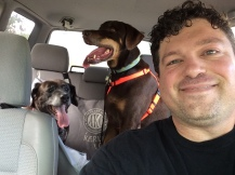 Remy, Mack and their chauffeur Craig